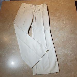 Express Ivory Stretch Velvet Wide Leg Pants 9-10